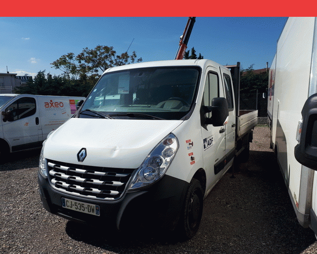 Renault Renault Master PLATEAU + GRUE DOUBLE CAB 2.3 DCI